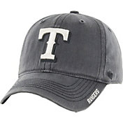 '47 Men's Texas Rangers Nightfall Closer Grey Fitted Hat