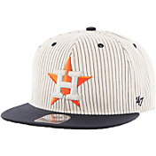 '47 Men's Houston Astros Woodside Captain Pinstripe Adjustable Hat