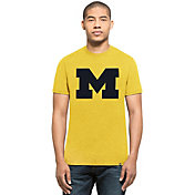 '47 Men's Michigan Wolverines Maize Big 'M' Club T-Shirt