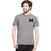 '47 Men's Michigan Wolverines Grey Logo T-Shirt