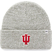 '47 Men's Indiana Hoosiers Heathered Grey Brain Freeze Cuffed Knit