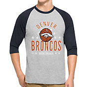 '47 Men's Denver Broncos Lockdown Raglan Grey Shirt