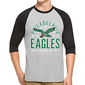 '47 Men's Philadelphia Eagles Lockdown Raglan Grey Shirt