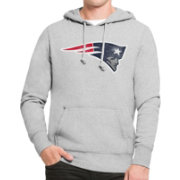 '47 Men's New England Patriots MVP Headline Pullover Grey Hoodie