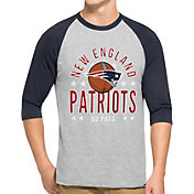 '47 Men's New England Patriots Lockdown Raglan Grey Shirt