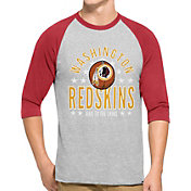 '47 Men's Washington Redskins Lockdown Raglan Grey Shirt