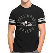 '47 Men's Baltimore Ravens Downfield Black T-Shirt