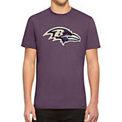 '47 Men's Baltimore Ravens Knockout Fieldhouse Applique T-Shirt