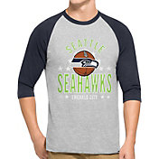 '47 Men's Seattle Seahawks Lockdown Raglan Grey Shirt