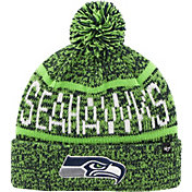 '47 Men's Seattle Seahawks Northmont Navy Pom Knit Hat
