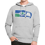 '47 Men's Seattle Seahawks MVP Throwback Headline Pullover Grey Hoodie