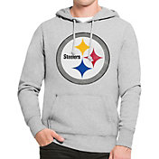 '47 Men's Pittsburgh Steelers MVP Headline Pullover Grey Hoodie