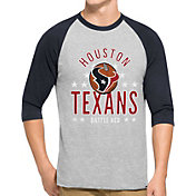 '47 Men's Houston Texans Lockdown Raglan Grey Shirt