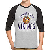 '47 Men's Minnesota Vikings Lockdown Raglan Grey Shirt