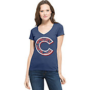 '47 Women's Chicago Cubs Flanker MVP Royal V-Neck T-Shirt