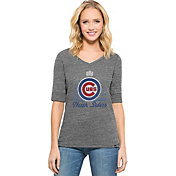 '47 Women's 2016 World Series Champions Chicago Cubs Grey Half-Sleeve Shirt