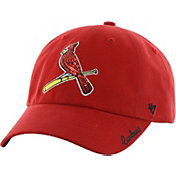 '47 Women's St. Louis Cardinals Sparkle Clean Up Red Adjustable Hat