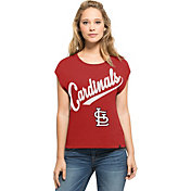 '47 Women's St. Louis Cardinals Homestand Red Cropped Shirt