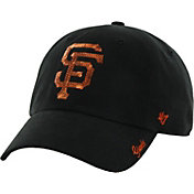'47 Women's San Francisco Giants Sparkle Clean Up Black Adjustable Hat
