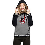 '47 Women's Cleveland Indians Grey Encore Pullover Hoodie