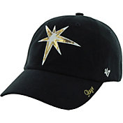 '47 Women's Tampa Bay Rays Sparkle Clean Up Navy Adjustable Hat