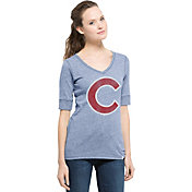 '47 Women's Chicago Cubs Roster Royal Tri-Blend Half-Sleeve Shirt