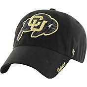 '47 Women's Colorado Buffaloes Black Sparkle Clean-Up Adjustable Hat