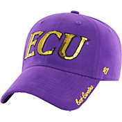'47 Women's East Carolina Pirates Purple Sparkle Clean-Up Adjustable Hat