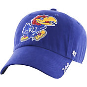 '47 Women's Kansas Jayhawks Blue Sparkle Clean-Up Adjustable Hat