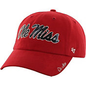 '47 Women's Ole Miss Rebels Red Clean Up Sparkle Adjustable Hat