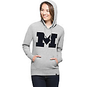 '47 Women's Michigan Wolverines Grey Big 'M' Headline Hoodie