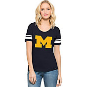 '47 Women's Michigan Wolverines Blue Big 'M' Halfback T-Shirt