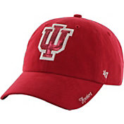 '47 Women's Indiana Hoosiers Crimson Clean Up Sparkle Adjustable Hat