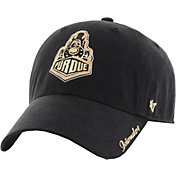 '47 Women's Purdue Boilermakers Black Sparkle Clean-Up Adjustable Hat