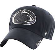 '47 Women's Penn State Nittany Lions Blue Sparkle Clean-Up Adjustable Hat