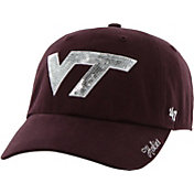 '47 Women's Virginia Tech Maroon Clean Up Sparkle Adjustable Hat