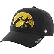 '47 Women's Iowa Hawkeyes Sparkle '47 Black Clean Up Hat