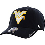 '47 Women's West Virginia Mountaineers Blue Clean Up Sparkle Adjustable Hat