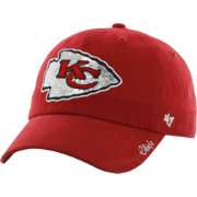 '47 Women's Kansas City Chiefs Sparkle Adjustable Red Hat