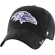 '47 Women's Baltimore Ravens Sparkle Logo Black Adjustable Hat