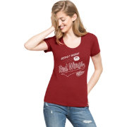'47 Women's Detroit Red Wings Club Red Scoop Neck T-Shirt