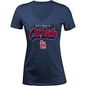 5th & Ocean Women's St. Louis Cardinals Navy V-Neck T-Shirt