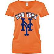 5th & Ocean Women's New York Mets Orange V-Neck T-Shirt