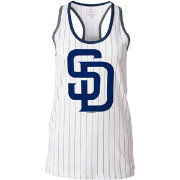 5th & Ocean Women's San Diego Padres Opening Night White Pinstripe Tank