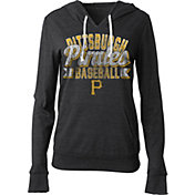 5th & Ocean Women's Pittsburgh Pirates Black Tri-Blend Hoodie