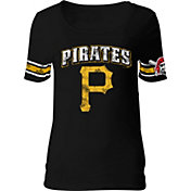 5th & Ocean Women's Pittsburgh Pirates Black Scoop Neck Shirt
