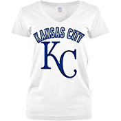 5th & Ocean Women's Kansas City Royals White V-Neck T-Shirt