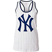 5th & Ocean Women's New York Yankees Opening Night White Pinstripe Tank