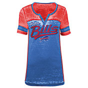 5th & Ocean Women's Buffalo Bills Burnout Royal V-Neck T-Shirt