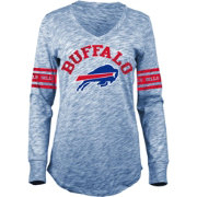 5th & Ocean Women's Buffalo Bills Space Dye Royal Long Sleeve Shirt